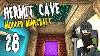 Hermit Cave: 28 | Dimensional Travels! | Modded Minecraft