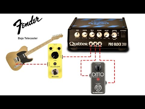 Pro Block 200  Demo Through A Fender Baja Telecaster  With Mooer Yellow Comp And Ditto Looper