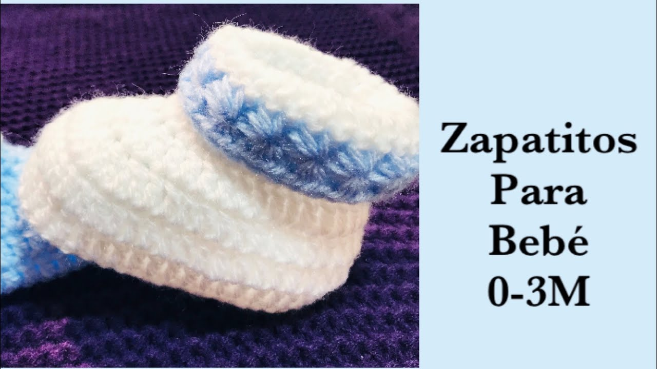 532fb76cc65 Ajuar para bebé: Como tejer Zapatitos | escarpines | patucos para bebé 0-3M  fácil de hacer #178