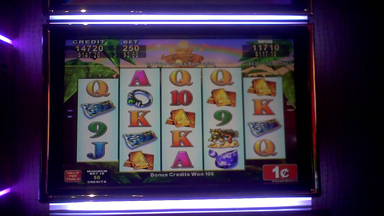 Lucky Fountain 100 spin slot bonus win plus retrigger at ...