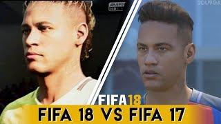 FIFA 18 vs FIFA 17 Players Faces Comparison | Neymar , Nainggolan & MORE
