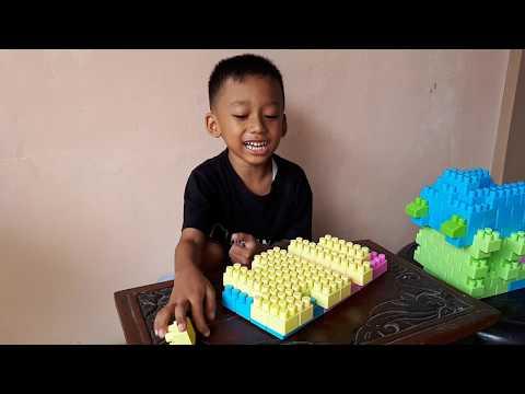 Tata Cara Buat Bangunan Jalan Dari Lego Blok || Balap Hotwels || Mainan Anak