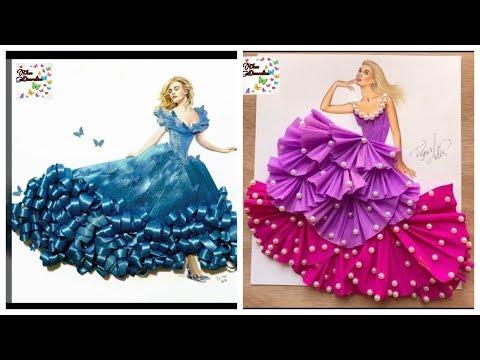 Stylish Dresses Design Sketches For Girls Fashion Designing Youtube
