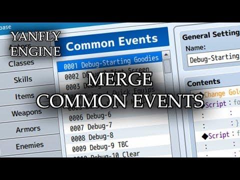 YEP 193 - Merge Common Events - RPG Maker MV