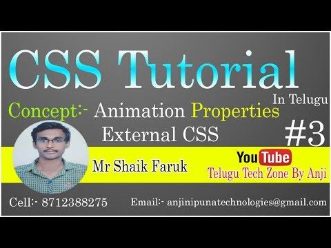 CSS Tutorial In Telugu Part 3 by Shaik Faruk || Animation Properties with External CSS in Telugu thumbnail