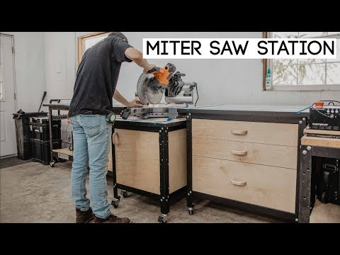 Straightforward To Construct Miter Noticed Station || Woodworking Store Venture