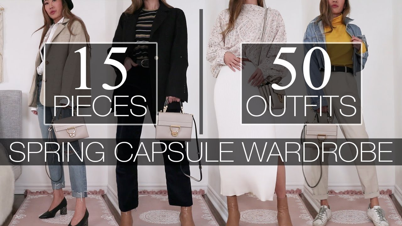 15 PIECES | 50 OUTFITS – Spring Capsule Wardrobe
