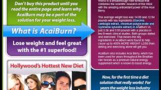 AcaiBurn Review:  Does Acai  Berry Help You Lose Weight?