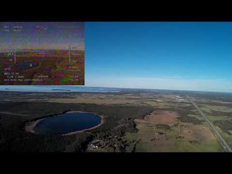 Mini Talon Fpv - 20km long range flight, Estonia