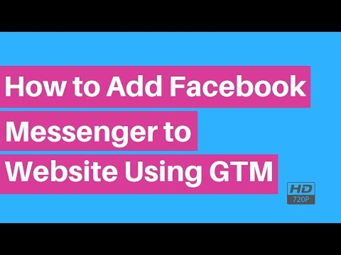 How To Add Facebook Messenger To Website Using GTM   Google Tag Manager