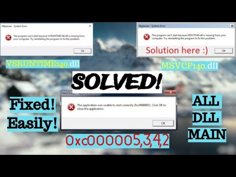 How To Fix All Dll's Error In A Few Steps 2020 For Every Games | NFS,GTA,WatchDogs,CALLOFDUTY,PUBGPC