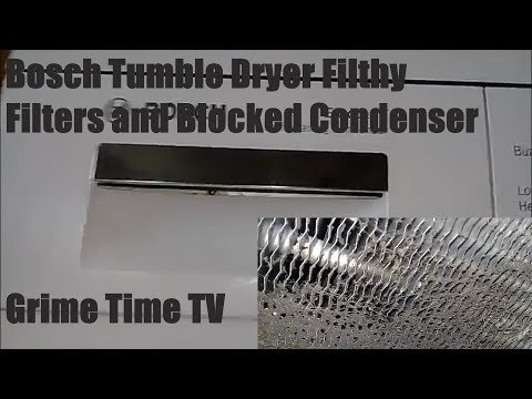 Bosch Condenser Tumble Dryer Condenser and Filter Clean
