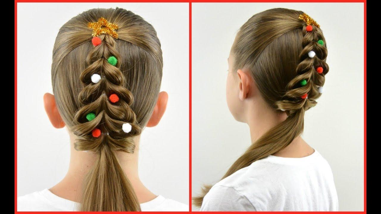 christmas tree pull through braid | christmas hair