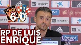España 6 - Croacia 0 | Rueda de prensa de Luis Enrique | Diario AS