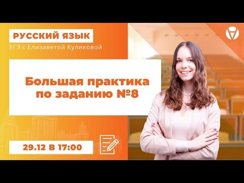 Большая практика по заданию №8 l ЕГЭ 2021 по русскому языку l AltEd