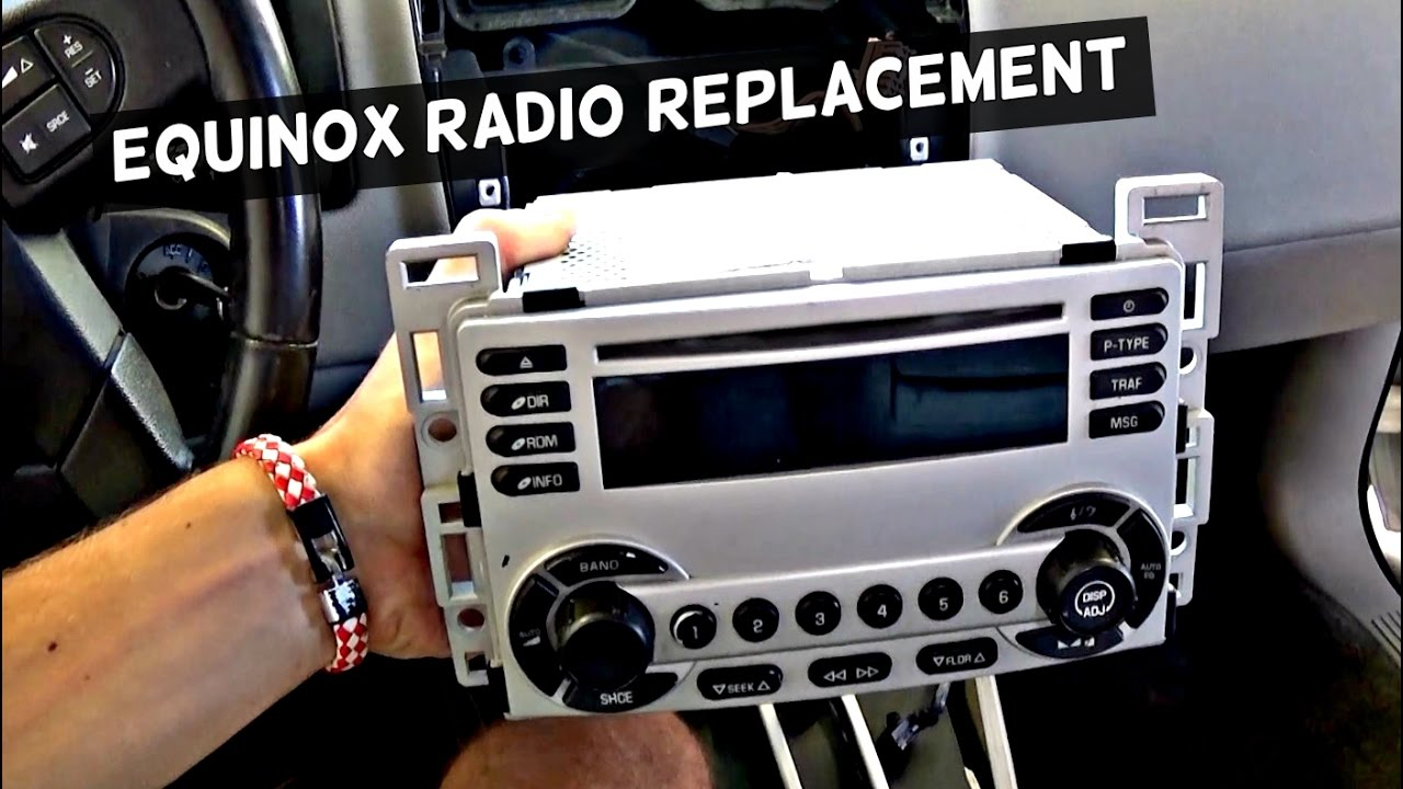 how to replace radio cd player on chevrolet equinox 2005 2006 2007 2008 2009