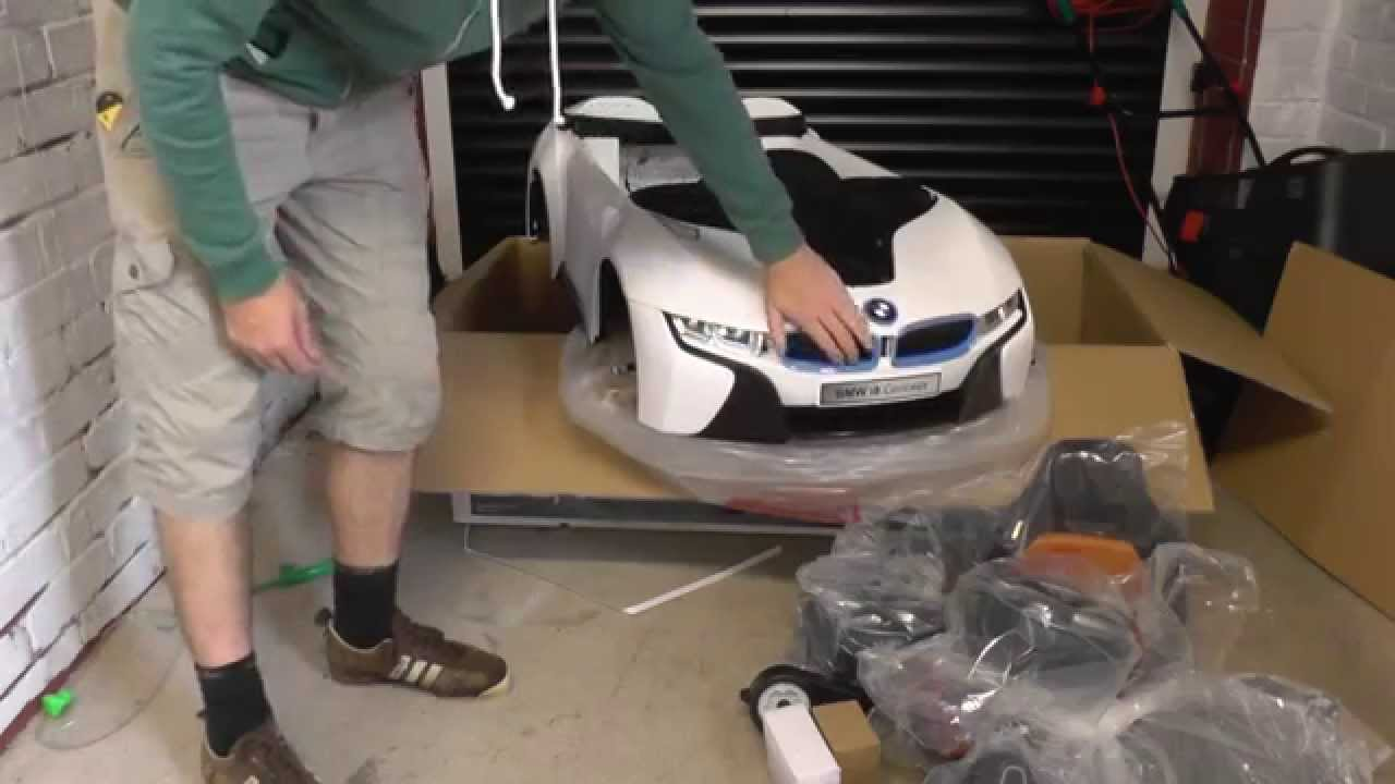Bmw I8 Kids Electric Ride On Car Box Opening Youtube
