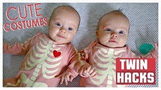 MY FIRST HALLOWEEN! Twin Hacks