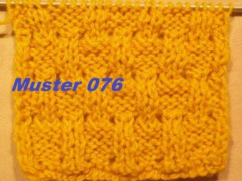 Muster 076 zweiseitig*Stricken lernen* Muster für Pullover Strickjacke Mütze*Tutorial Handarbeit
