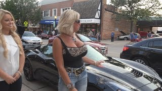 corvette stingray pretty women who love cars in 4k