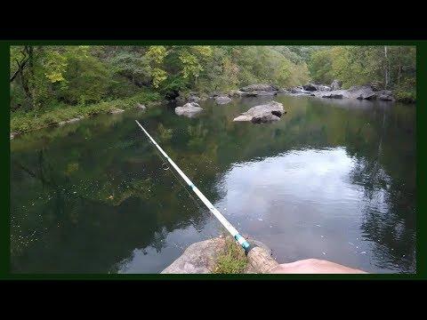 Fishing A Beautiful River In East TN Mountains