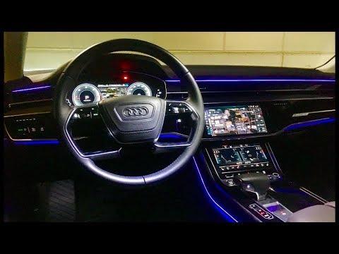 2018 Audi A8 interior tour & POV Driving at night (CRAZY ...