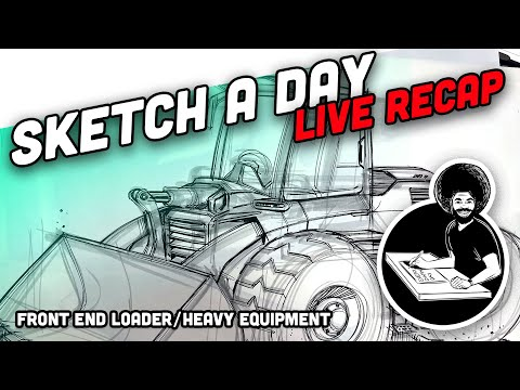 How To Draw A Front End Loader - Heavy Equipment