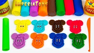 Play with Play Doh Mickey Mouse Smiley Face
