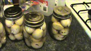 Pickled Eggs, Home Preserving.