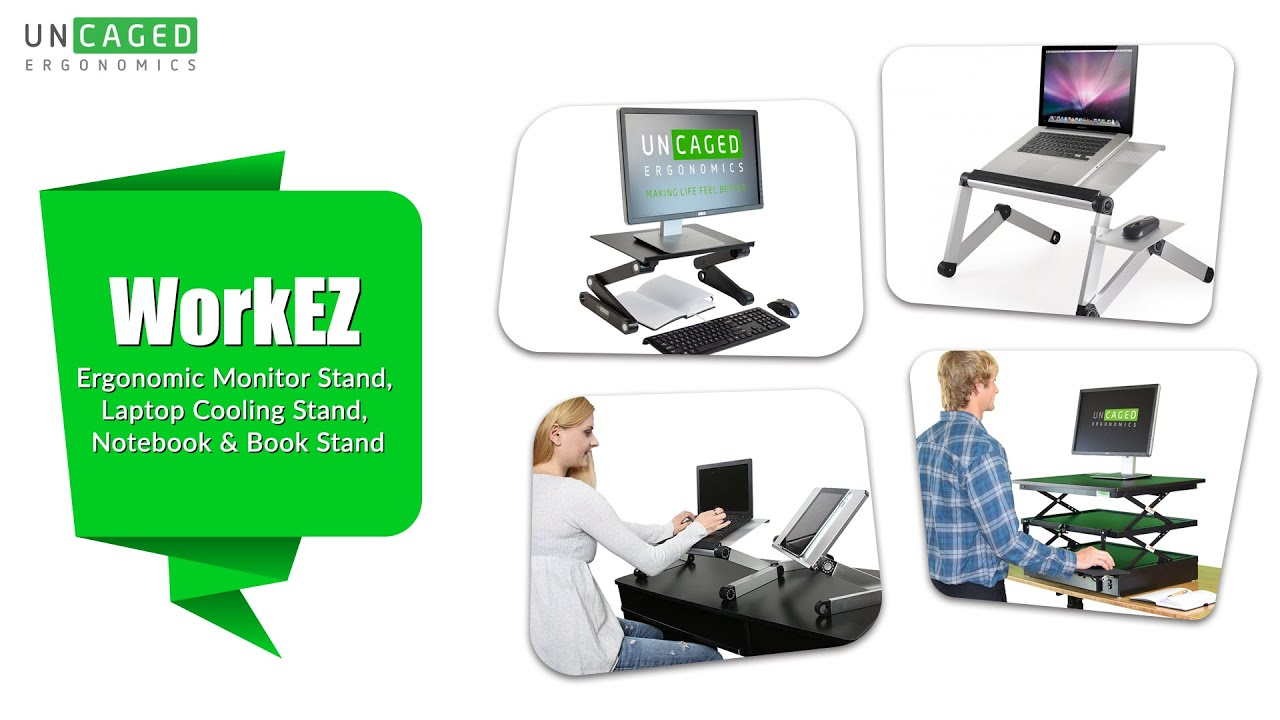 uncaged workez introduction ergonomic monitor stand laptop