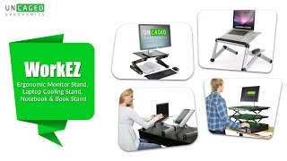 Uncaged Workez Introduction - Ergonomic Monitor Stand, Laptop Cooling Stand, Notebook & Book Stand