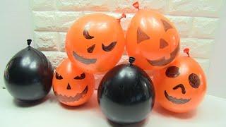 Halloween Slime! Làm Slime Trong Bong Bóng- ĐỒ CHƠI TRẺ EM - Kênh Chị Bí Đỏ