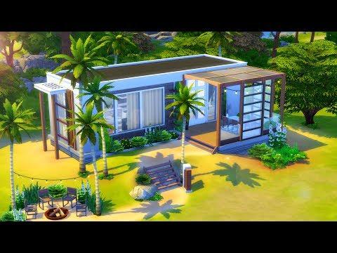Modern Tiny House // Sims 4 Speed Build