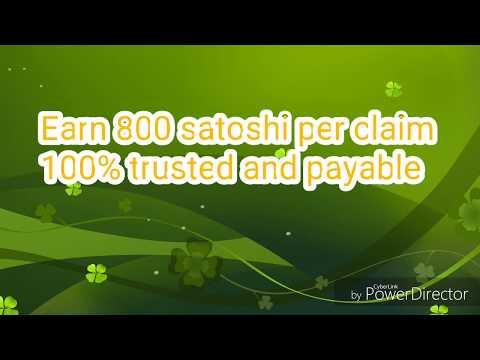 Earn 800 satoshi per claim 100% payable