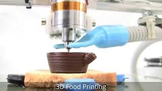 3d Food Printer Prints Chocolate Desert Watch It PRINT Step By Step