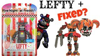 Fnaf 6 Funko Action Figure LEFTY & Scrap Baby, Walmart Exclusive, Unboxing, Toy Review