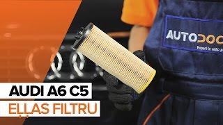 Kā un kad mainīt Eļļas filtrs AUDI A6 Avant (4B5, C5): video pamācības
