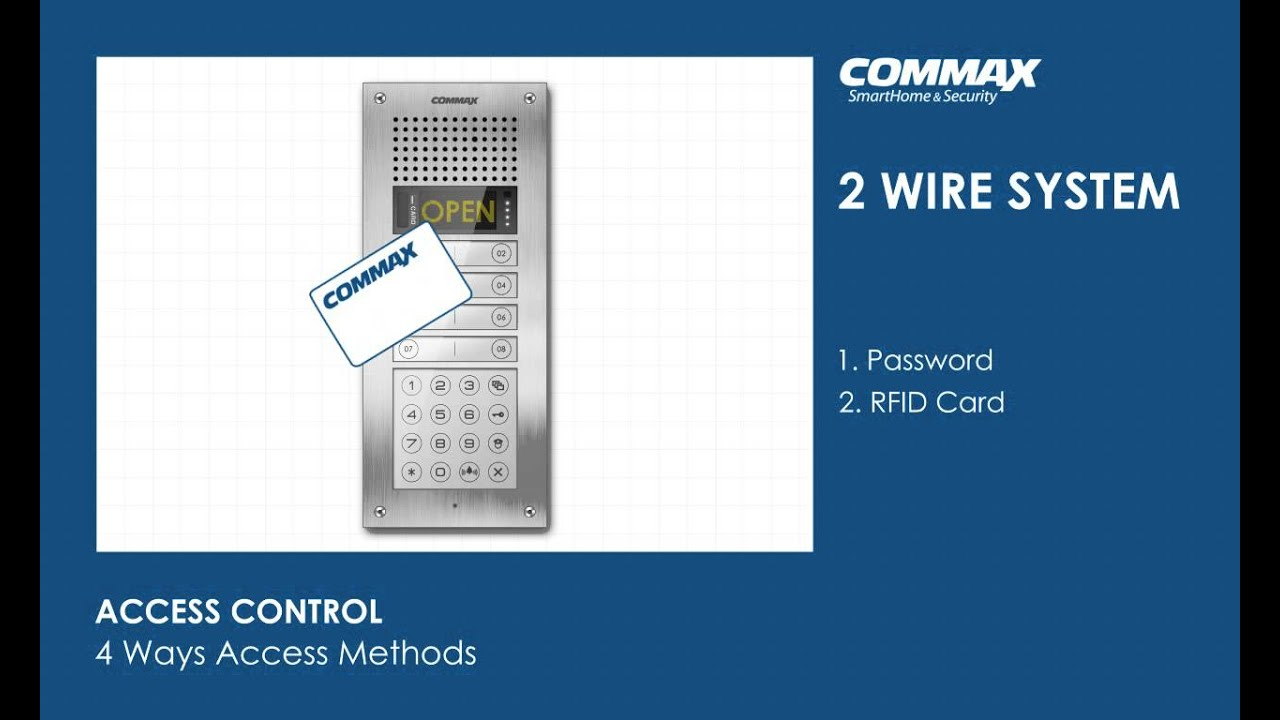 Commax Intercom Wiring Diagram Aiphone Systems 2 Wires System Youtube