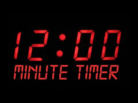 12 Minute Countdown Timer Alarm Clock
