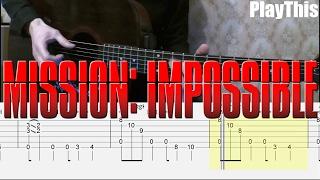 [Миссия Невыполнима] Как играть на гитаре (Mission Impossible) + ТАБЫ | Уроки гитары от PlayThis#17
