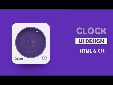 Clock Widget UI Design Using CSS | CSS UI Design