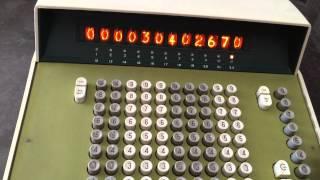 ANITA Mk IX (C9) Calculator Performing Addition (Nixie Tube Display)
