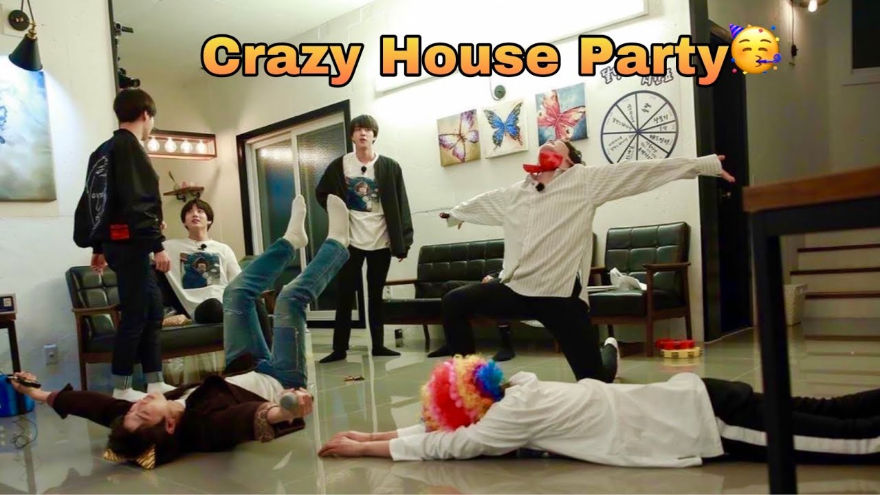 BTS HOUSE Party 🥳 // Song challenge // Hindi dubbing // run ep 55