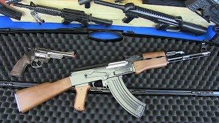 Toy Guns Kalashnikov AK-47 Military Weapons & Equipment !! BOX OF TOYS GUNS Video for Kids