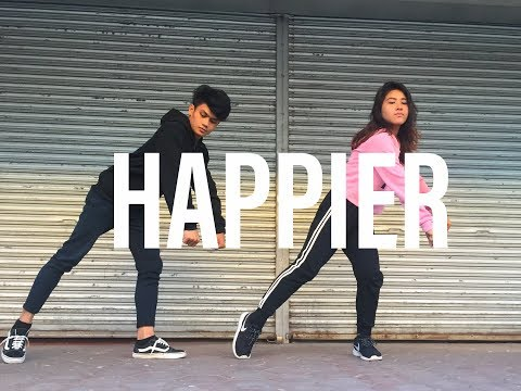 HAPPIER - Marshmello ft. Bastille Dance Cover by Romae & Leonil | Matt & Bailey Choreography