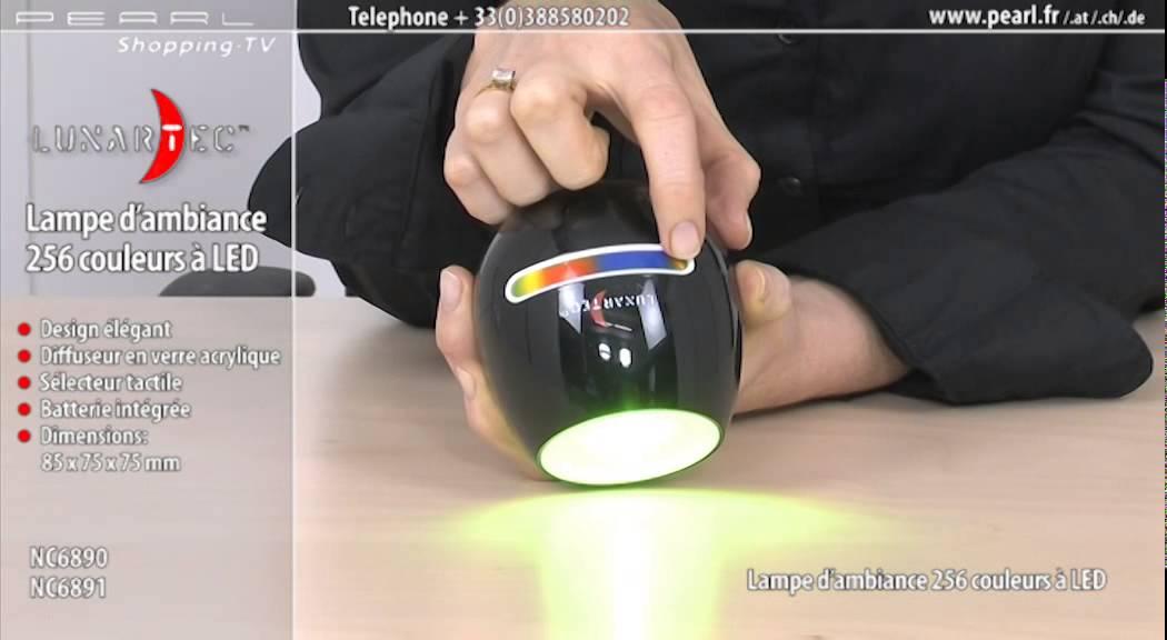 NC6890-Lampe d\'ambiance 256 couleurs à LED modèle noir - YouTube