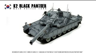 Lego Technic Motorized K2 Black Panther Tank