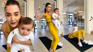 🔴Amy Jackson Workout With Her Cute Son | Lockdown, Theri Vijay, Enthiran, Tamil Actress | Tamil News
