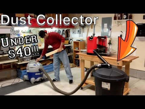 Trash Can & PVC Pipe Dust Collection System for UNDER $40!