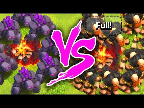 Clash of Clans |  GOLEMS VS GIANTS  |  WHO IS BETTER